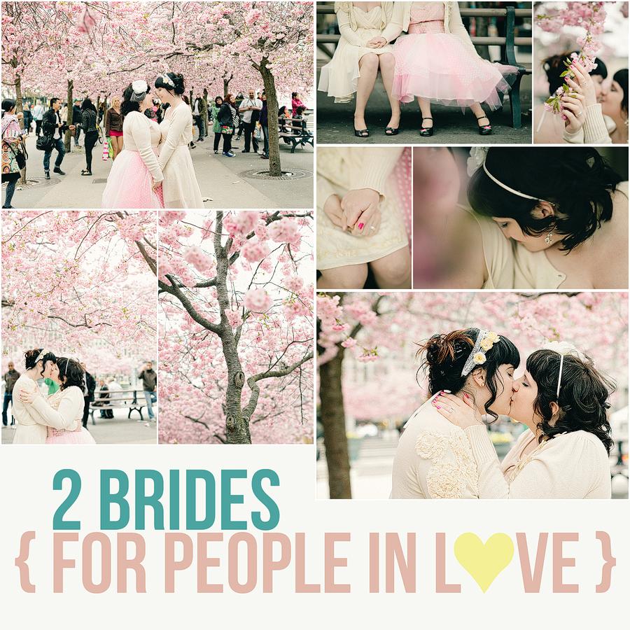 gaybröllop mellan två underbara tjejer som gifte sig i Stadshuset