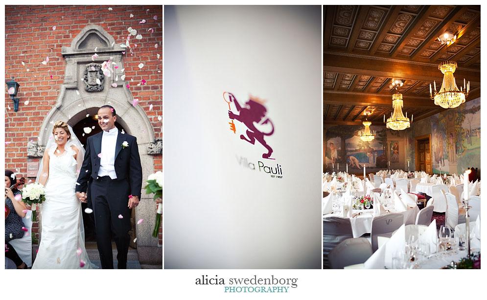 Bröllop på Villa Pauli, Stockholm - bröllopsfotograf Alicia Swedenborg 8