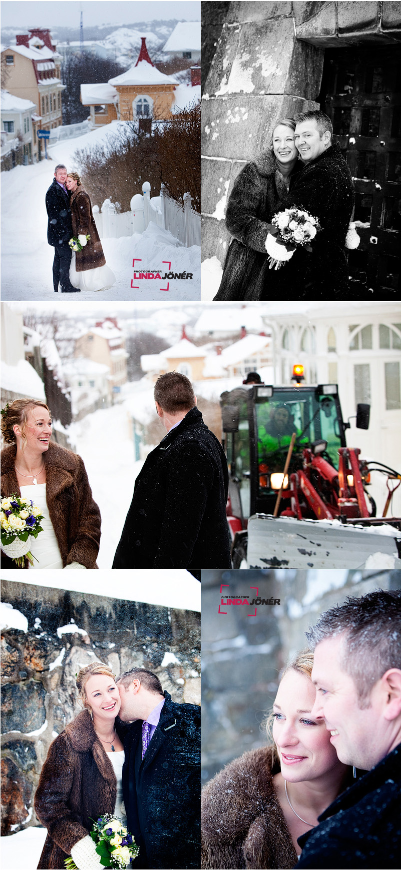 Jenny och Johan i snöstorm 2