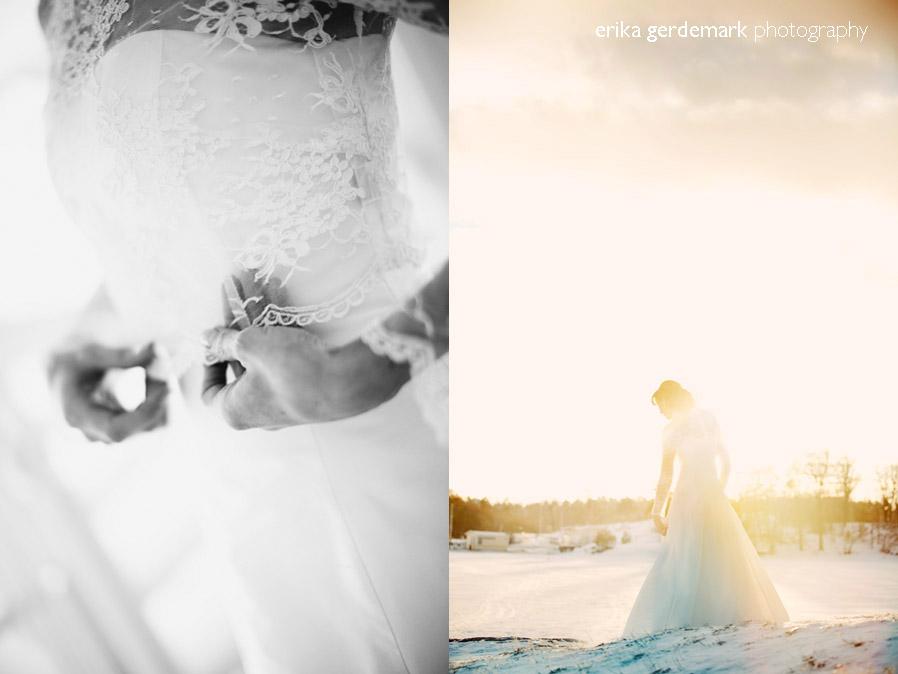 Bröllopsfotografering i vinterlanskap Stockholm - Erika Gerdemark Photography 7