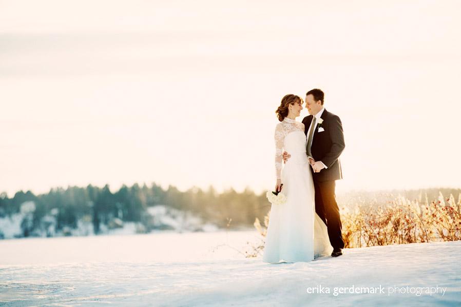 Bröllopsfotografering i vinterlanskap Stockholm - Erika Gerdemark Photography 2