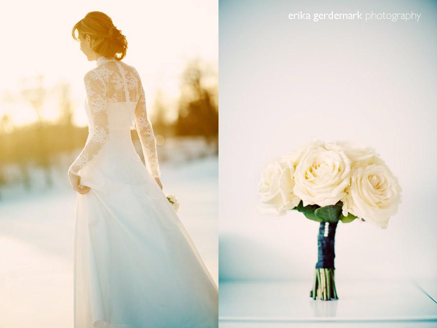 Bröllopsfotografering i vinterlanskap Stockholm - Erika Gerdemark Photography 1