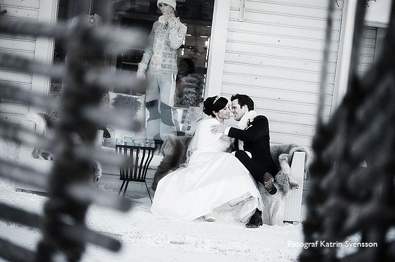 Bröllopsbilder Martina och Björn i Åre 1