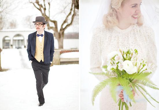 Vinter vintage bröllop - bröllopsfotograf Alicia Swedenborg 2