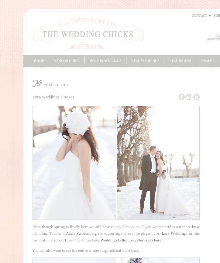 Publiscerad på bröllopsbloggen The Wedding Chicks - bröllopsfotograf Alicia Swedenborg 1
