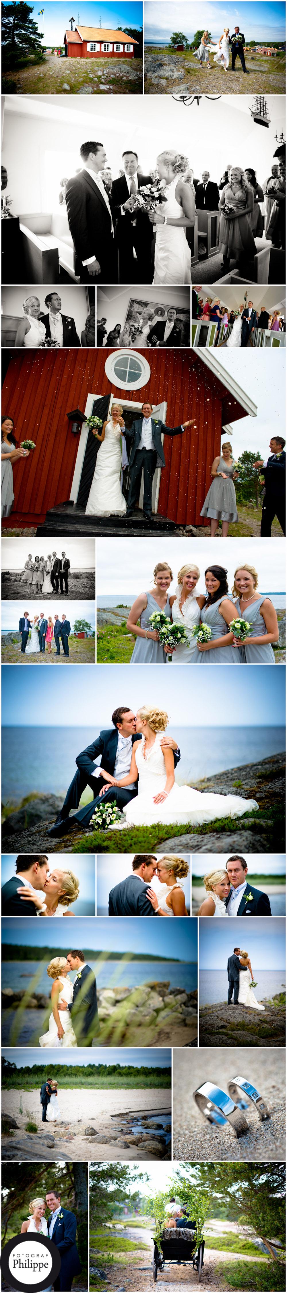 Bröllop vi havet på Hölick med Frida och Fredrik. 16