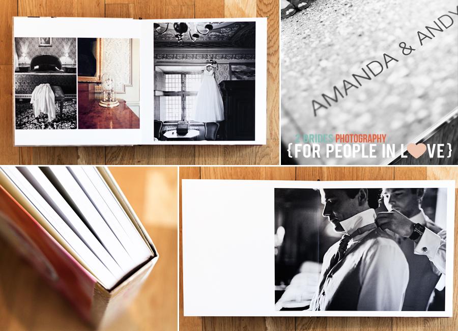 coffe table bok som bröllopsalbum