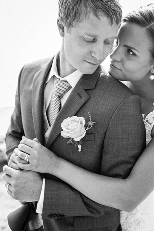 Bröllopsbild av det vackra paret Kristin och Gustav, Tylösand, Halmstad, Halland 1