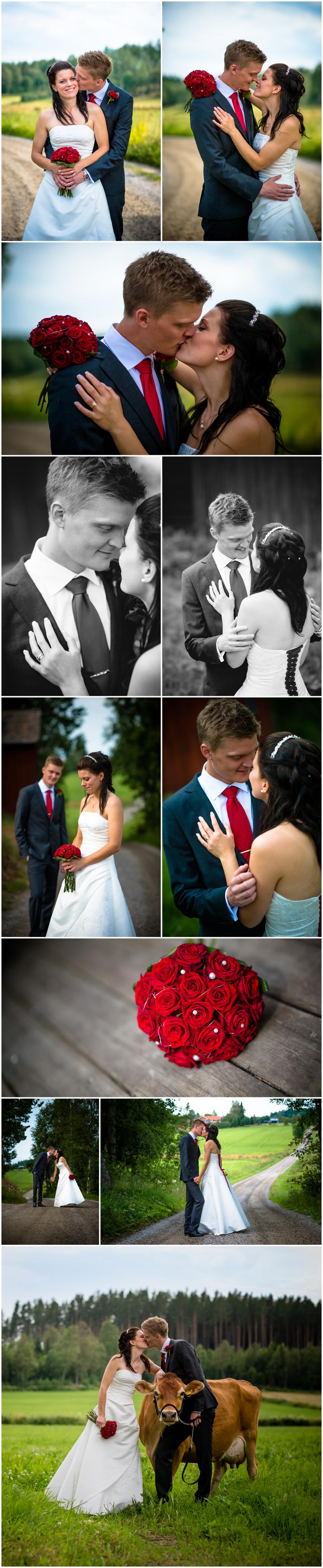 Bröllopsfotografering   i Hälsingland: Martina & Wiktor 7