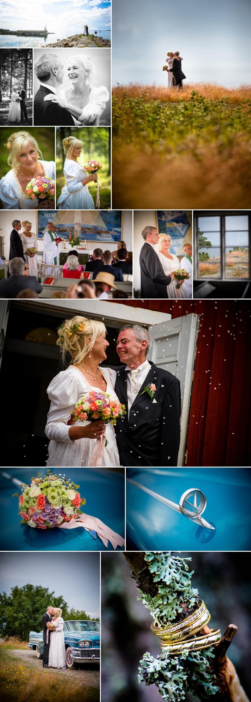 Fotograf Philippe Rendu - Ann-Marie och Lennart; bröllop vid havet i Hälsningland 3