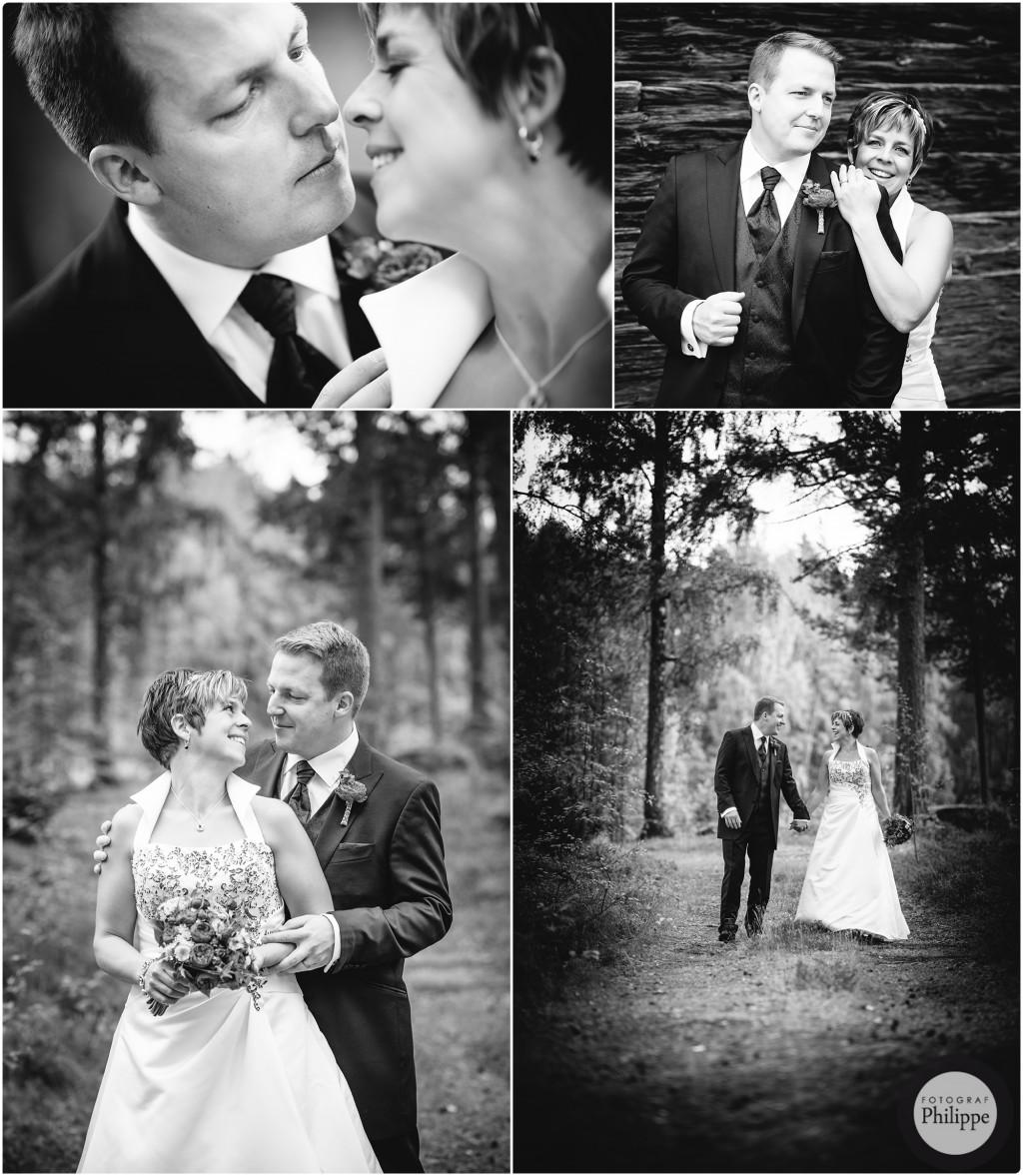 Bröllopsbilder i svartvitt i Järvsö; Åsa & Robert 3