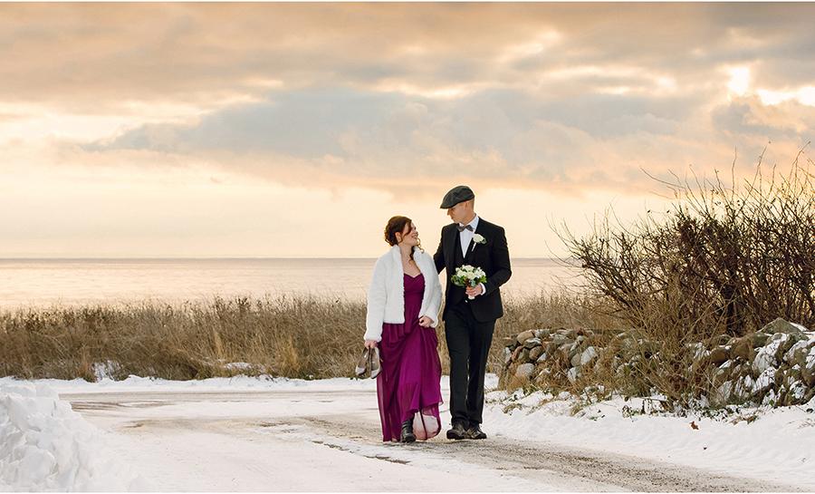 Elin + Martin Vinterbröllop i Mölle - Fotograf Anna Lauridsen, Kullafoto 6