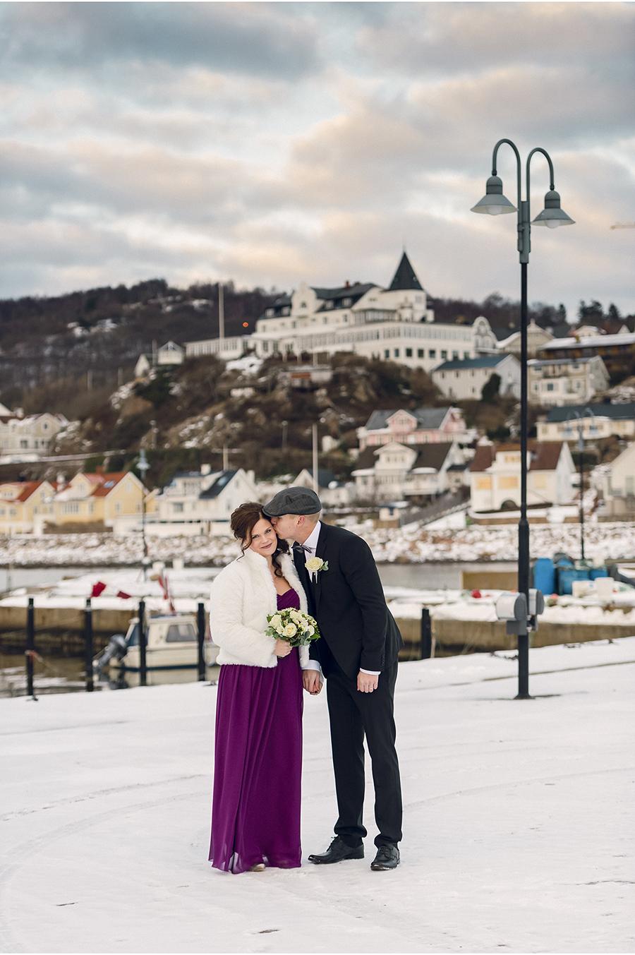 Elin + Martin Vinterbröllop i Mölle - Fotograf Anna Lauridsen, Kullafoto 8