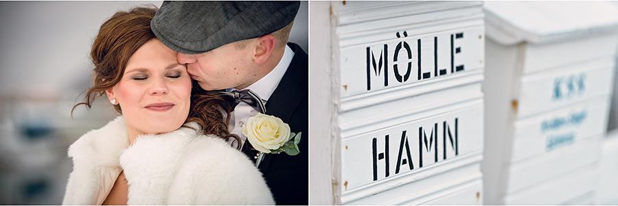 Elin + Martin Vinterbröllop i Mölle - Fotograf Anna Lauridsen, Kullafoto 9