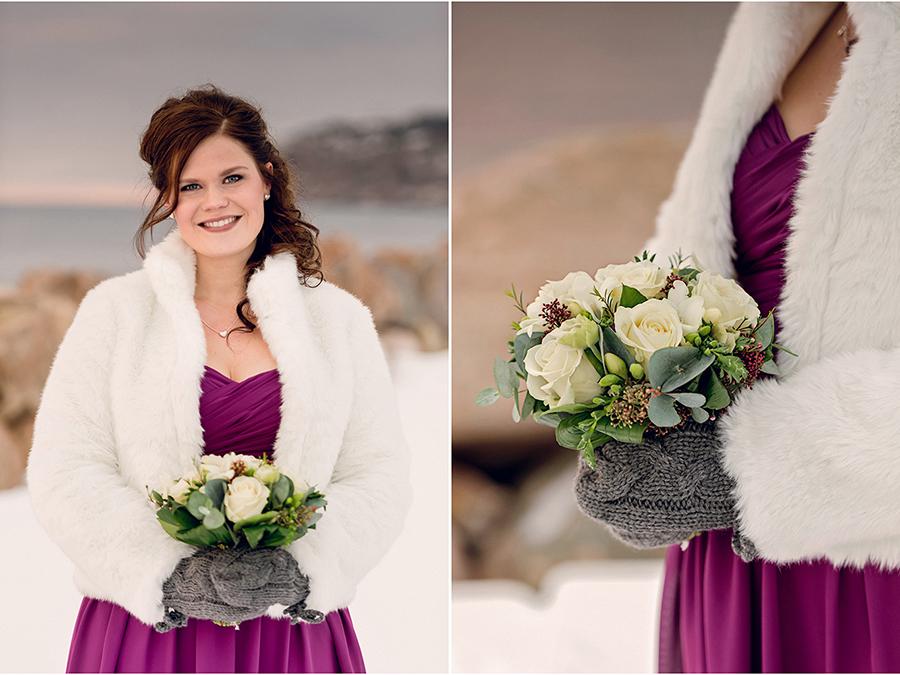 Elin + Martin Vinterbröllop i Mölle - Fotograf Anna Lauridsen, Kullafoto 12