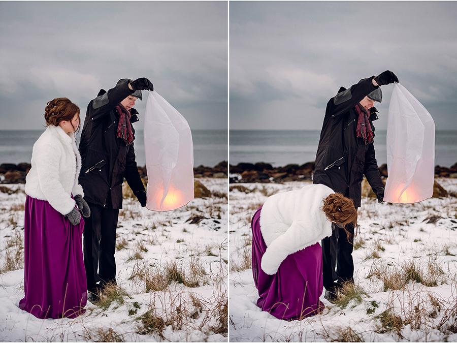 Elin + Martin Vinterbröllop i Mölle - Fotograf Anna Lauridsen, Kullafoto 15