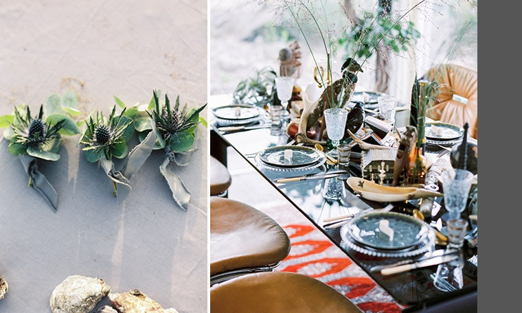 Vintage antique table styling wedding